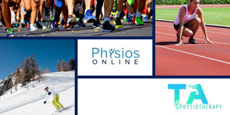Athletes running and skiing physiotherapy