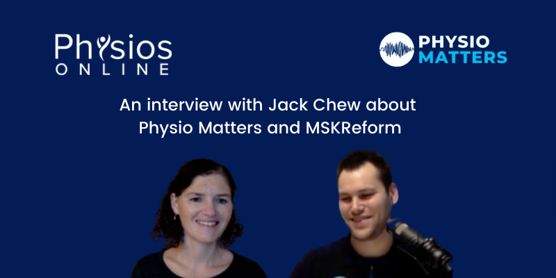 Jack Chew and Physio Matters