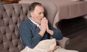 Man breathing exercise